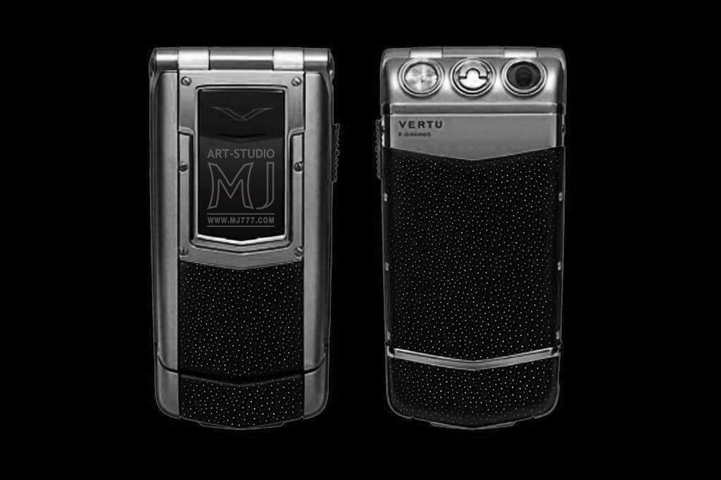 VERTU CONSTELLATION AYXTA PLATINUM EXOTIC LEATHER LIMITED EDITION by MJ - Platinum Mobile Phone 777 TM. Genuine Leather. Stingray Skin